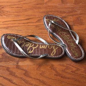 New! Metallic Gold Sam Edelman Flip flops